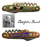Anheuser Busch Pocketknives with Adolphus Busch Stanhope Microphoto